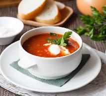 Wyśmienita zupa krem z pomidorów z kiełbasą i lanymi kluseczkami