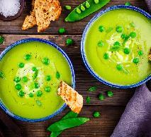 Zupa krem z zielonego groszku - przepis na zdrową zupę