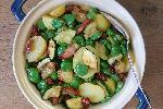 Sałatka z młodych ziemniaków, bobu i cukinii