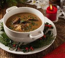 Wigilijna zupa grzybowa z suszem - oryginalny przepis