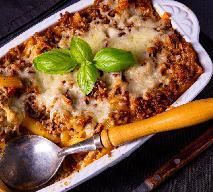 Kapitalny makaron zapiekany z sosem bolońskim i serem
