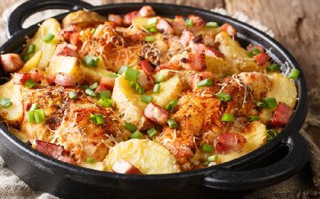Śródziemnomorski kurczak z ziemniakami