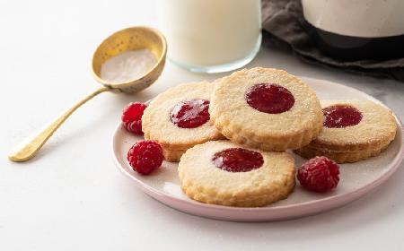 Maślane ciasteczka z malinami